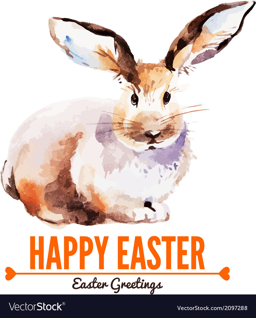 Card with sketch easter rabbit vector   Price: 1 Credit (USD $1)