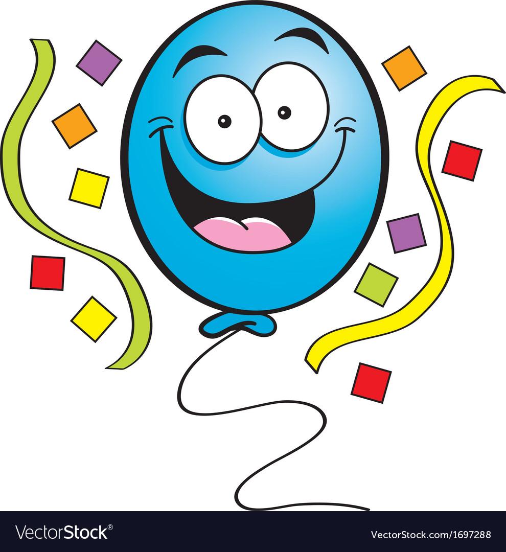 Cartoon happy balloon vector | Price: 1 Credit (USD $1)