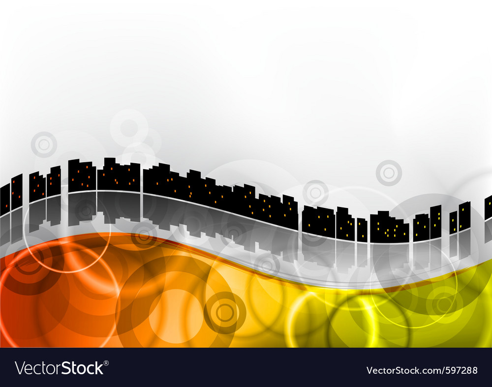 City abstract wave vector | Price: 1 Credit (USD $1)