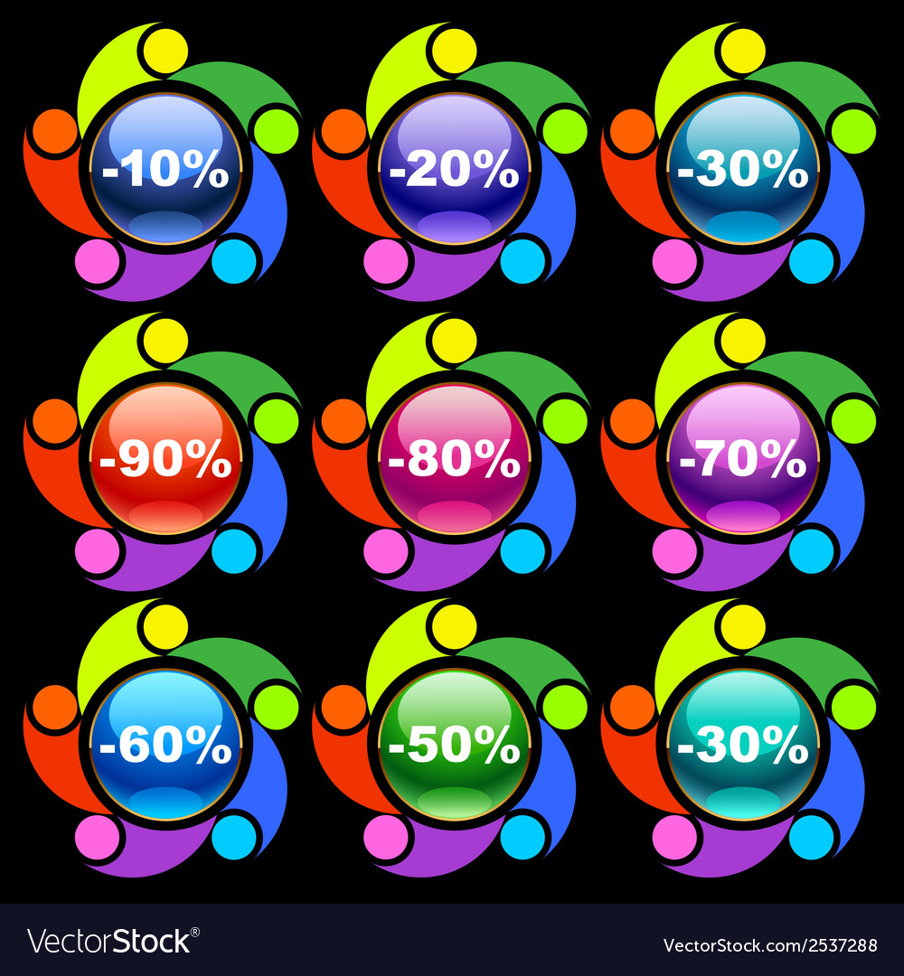 Colorful discount labels vector   Price: 1 Credit (USD $1)