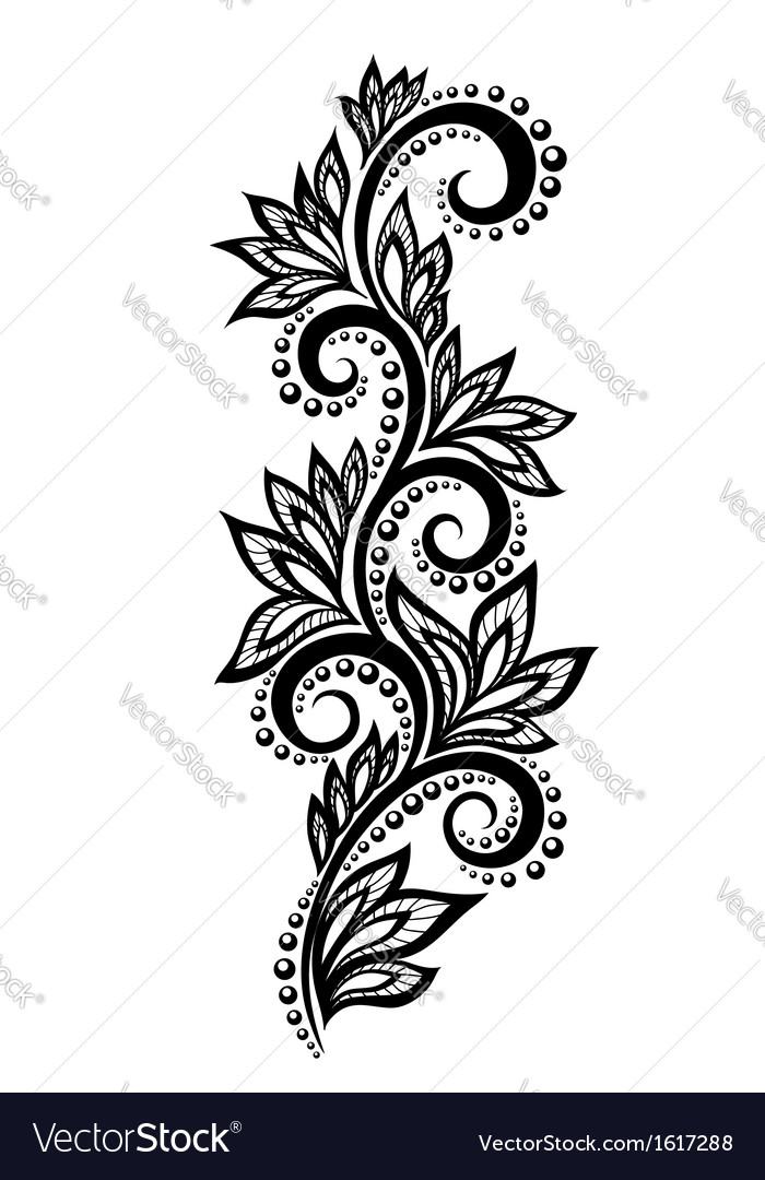 Floral design element effect of lace eyelets vector | Price: 1 Credit (USD $1)