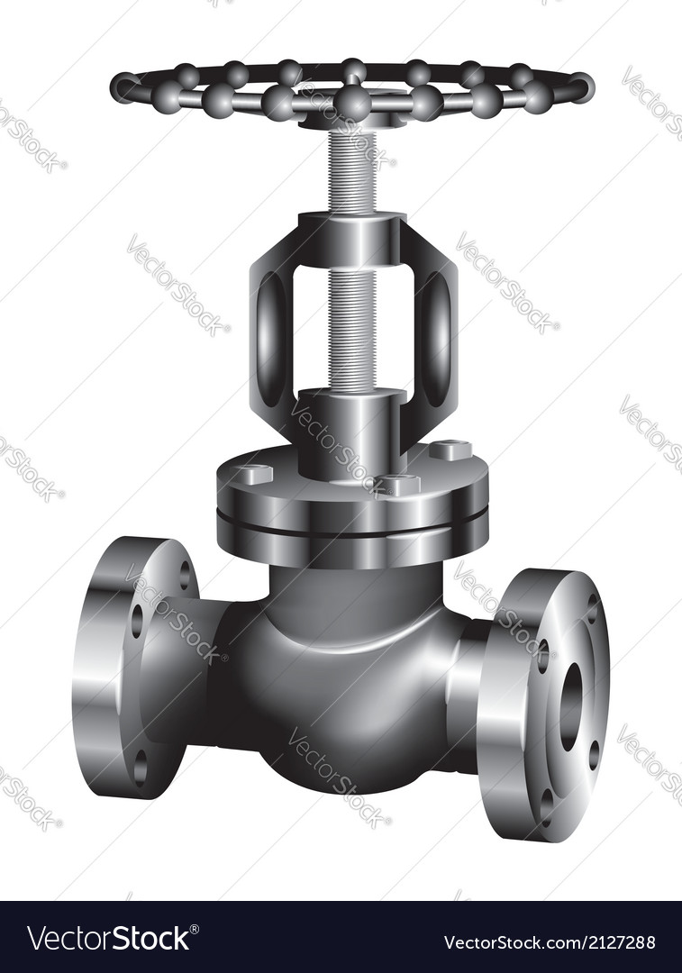 Gray industrial valve vector | Price: 1 Credit (USD $1)