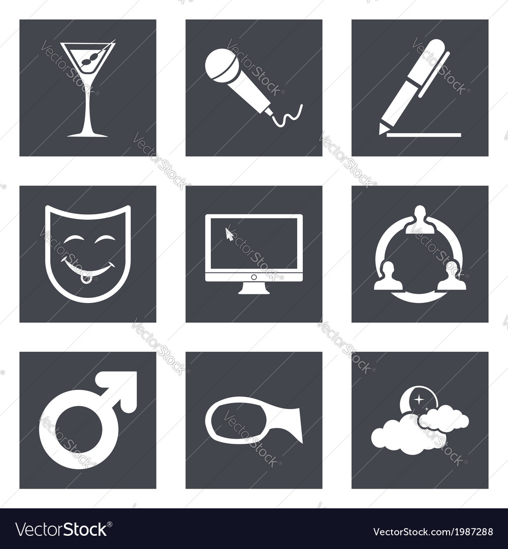 Icons for web design set 21 vector | Price: 1 Credit (USD $1)