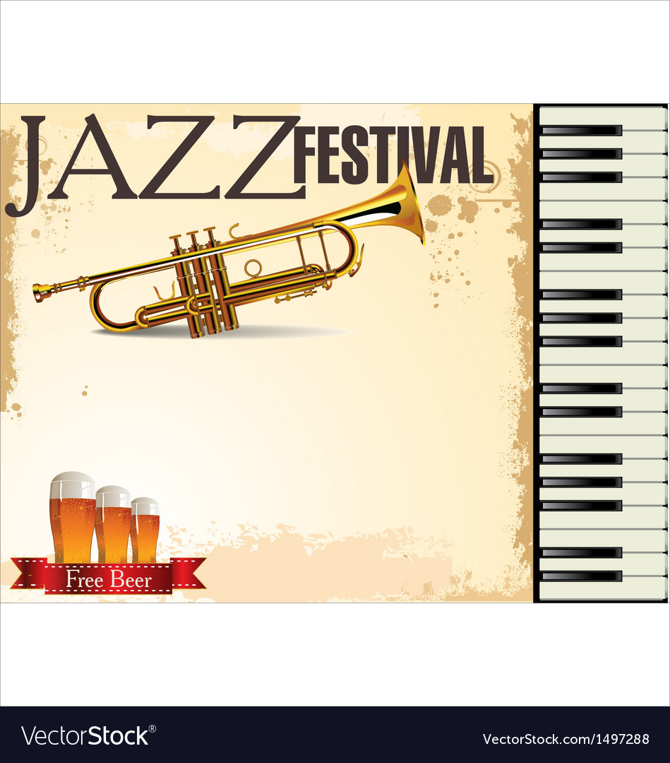 Jazz festival free beer vector | Price: 1 Credit (USD $1)