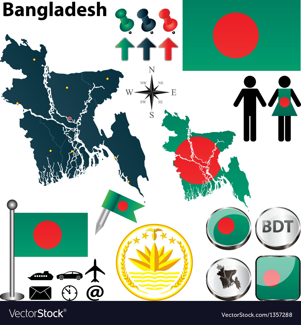 Map of bangladesh vector | Price: 1 Credit (USD $1)