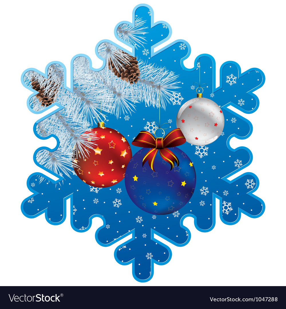 Ny snowflake vector | Price: 1 Credit (USD $1)