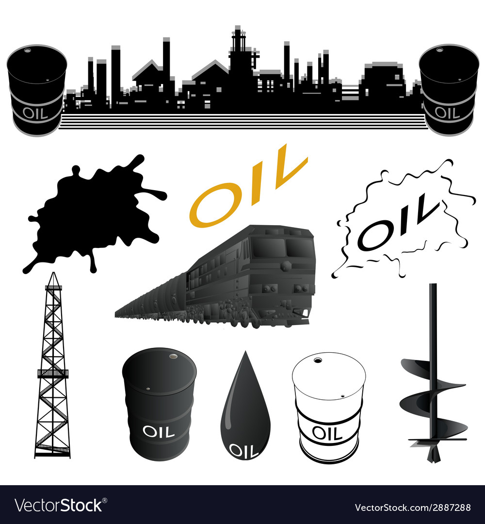 Set oil industry facilities vector | Price: 1 Credit (USD $1)
