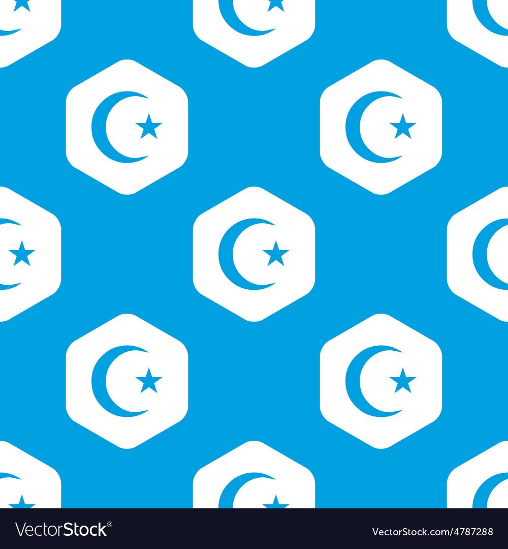 Turkish moon hexagon pattern vector | Price: 1 Credit (USD $1)