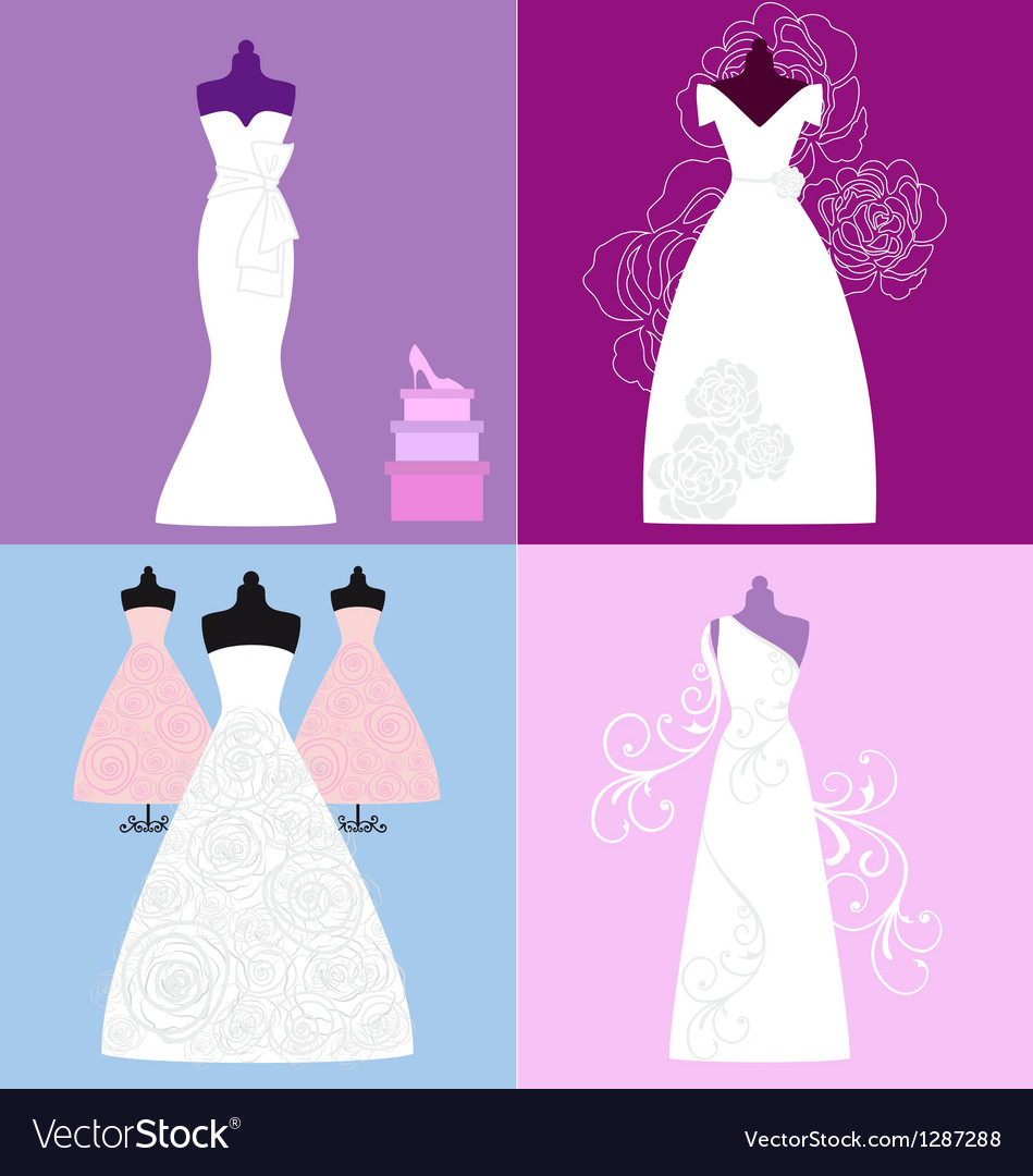 Wedding dresses bridal gowns vector | Price: 1 Credit (USD $1)
