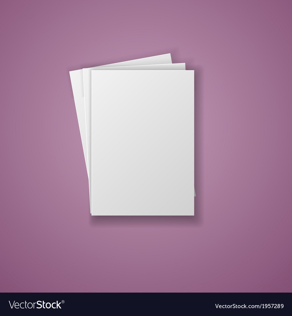 A4 paper sheet isolated on white background vector | Price: 1 Credit (USD $1)