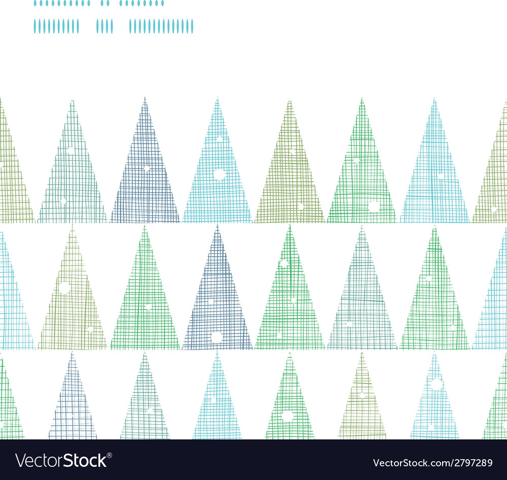 Abstract christmas trees forest in snow horizontal vector | Price: 1 Credit (USD $1)