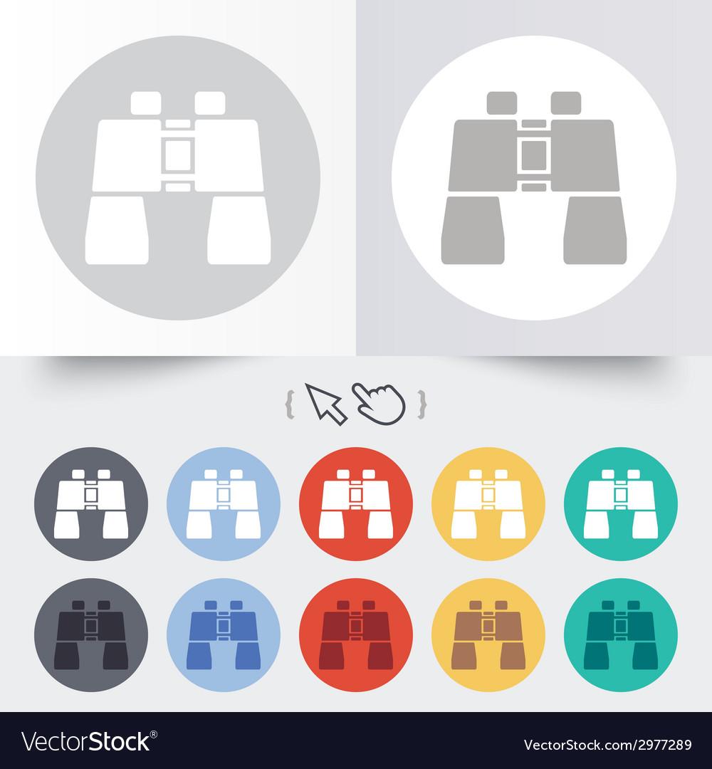 Binocular sign icon search symbol vector | Price: 1 Credit (USD $1)