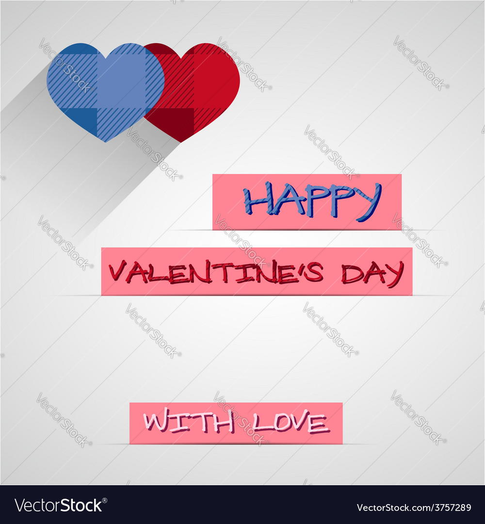 Bright 2015 valentine s day card with long shadow vector | Price: 1 Credit (USD $1)