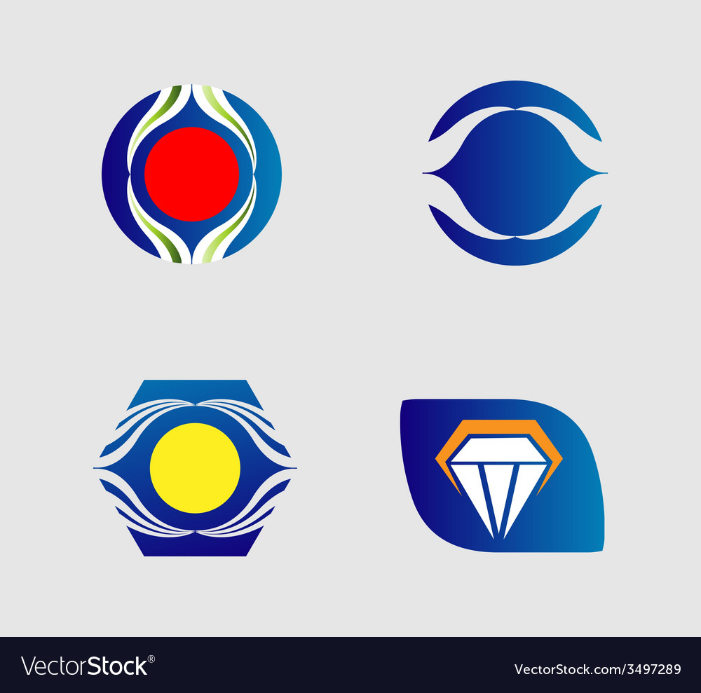 Collection of creative and abstract icon logo desi vector | Price: 1 Credit (USD $1)