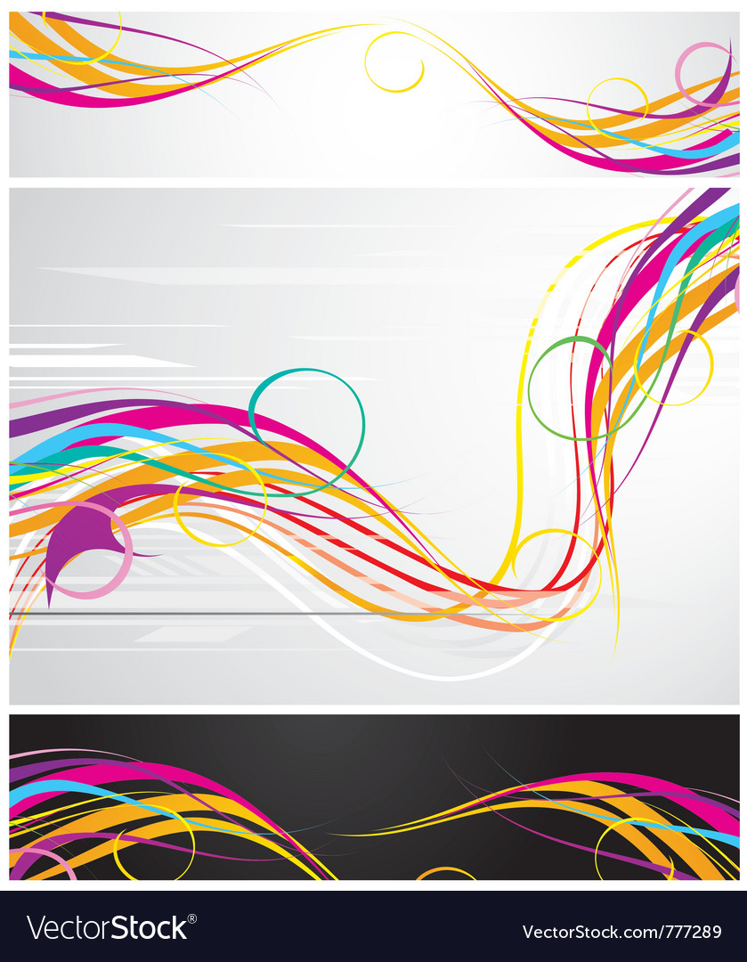 Colour abstraction from lines vector | Price: 1 Credit (USD $1)