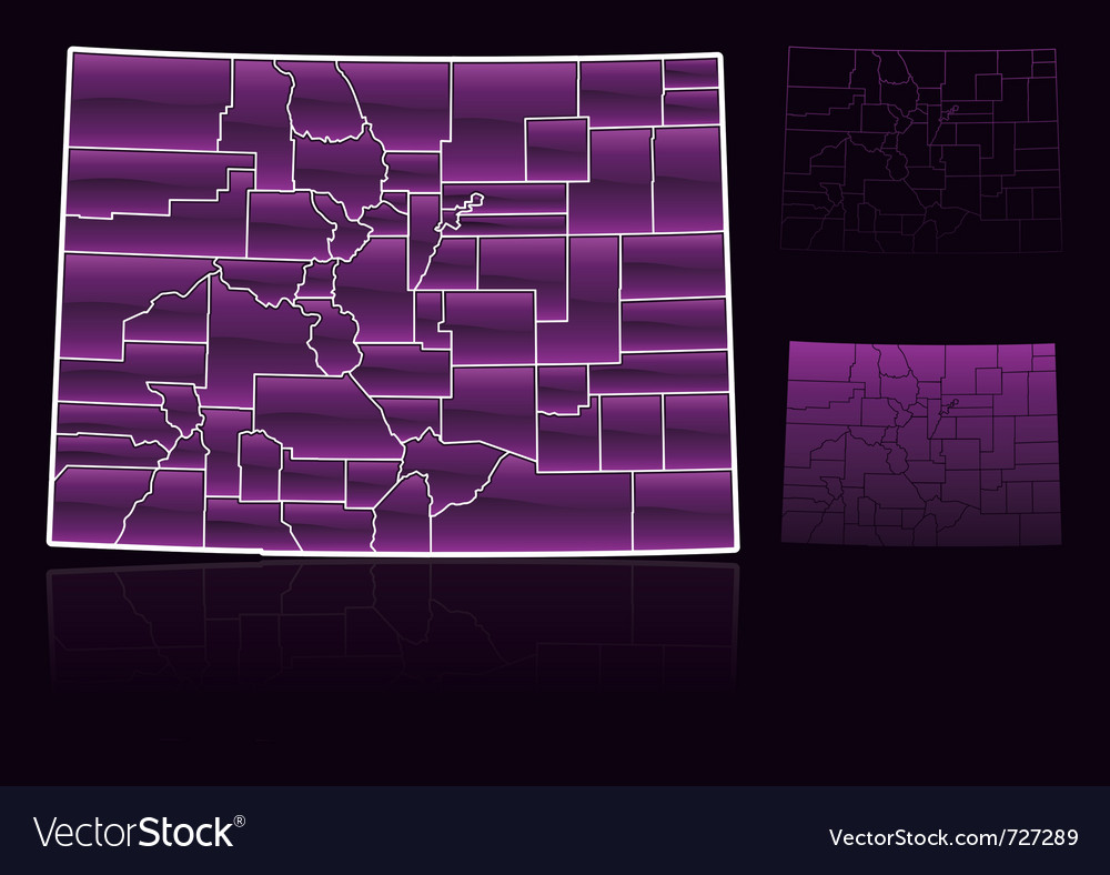Counties of colorado vector | Price: 1 Credit (USD $1)