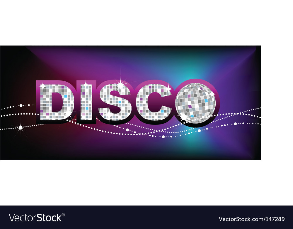 Disco ball party poster template vector | Price: 1 Credit (USD $1)