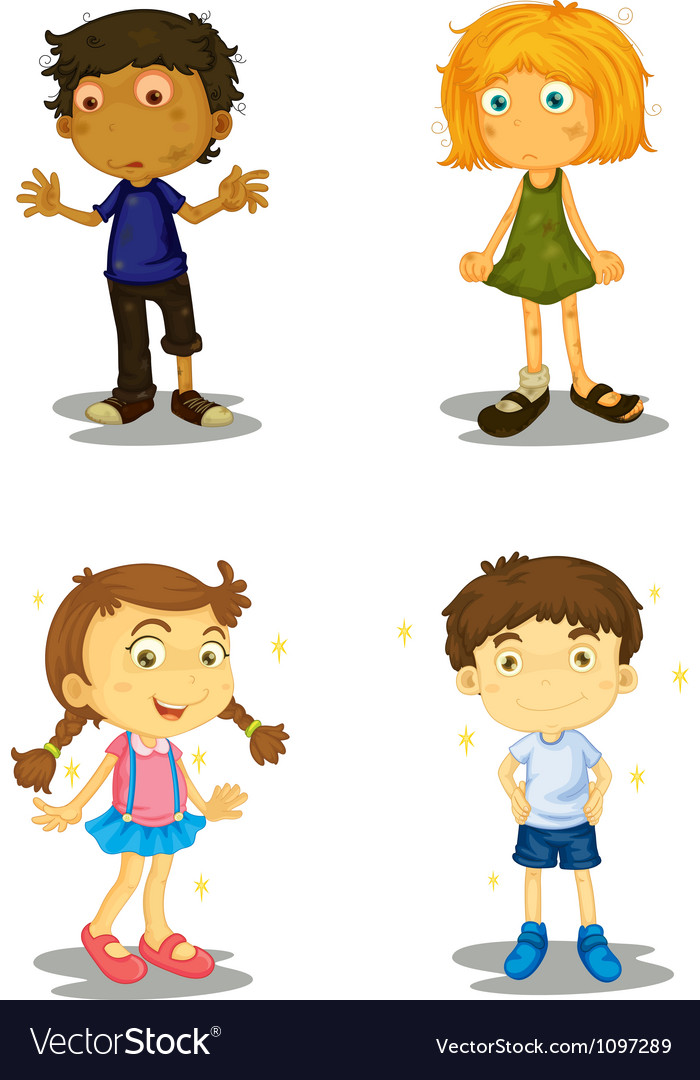 Four kids vector | Price: 3 Credit (USD $3)