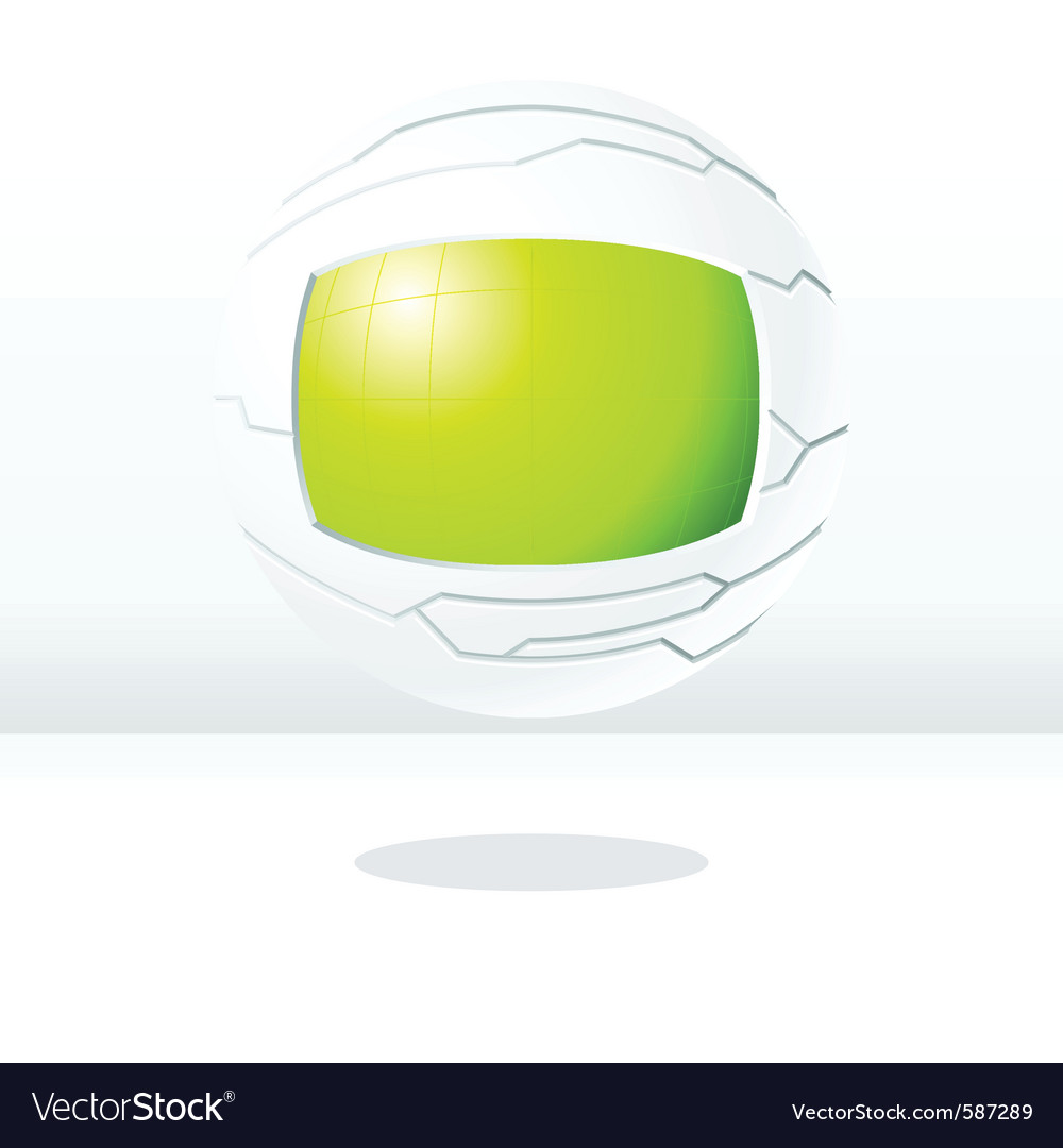 Green and white futuristic globe vector | Price: 1 Credit (USD $1)