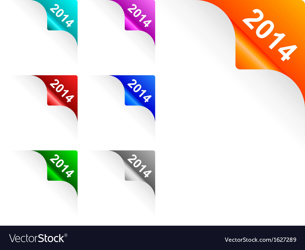 Paper corners 2014 vector | Price: 1 Credit (USD $1)