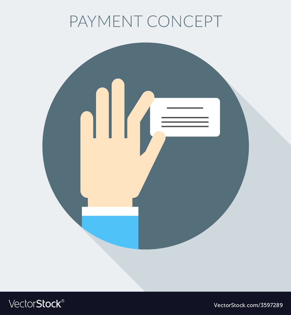 Payment concept hand giving invoice flat design vector | Price: 1 Credit (USD $1)