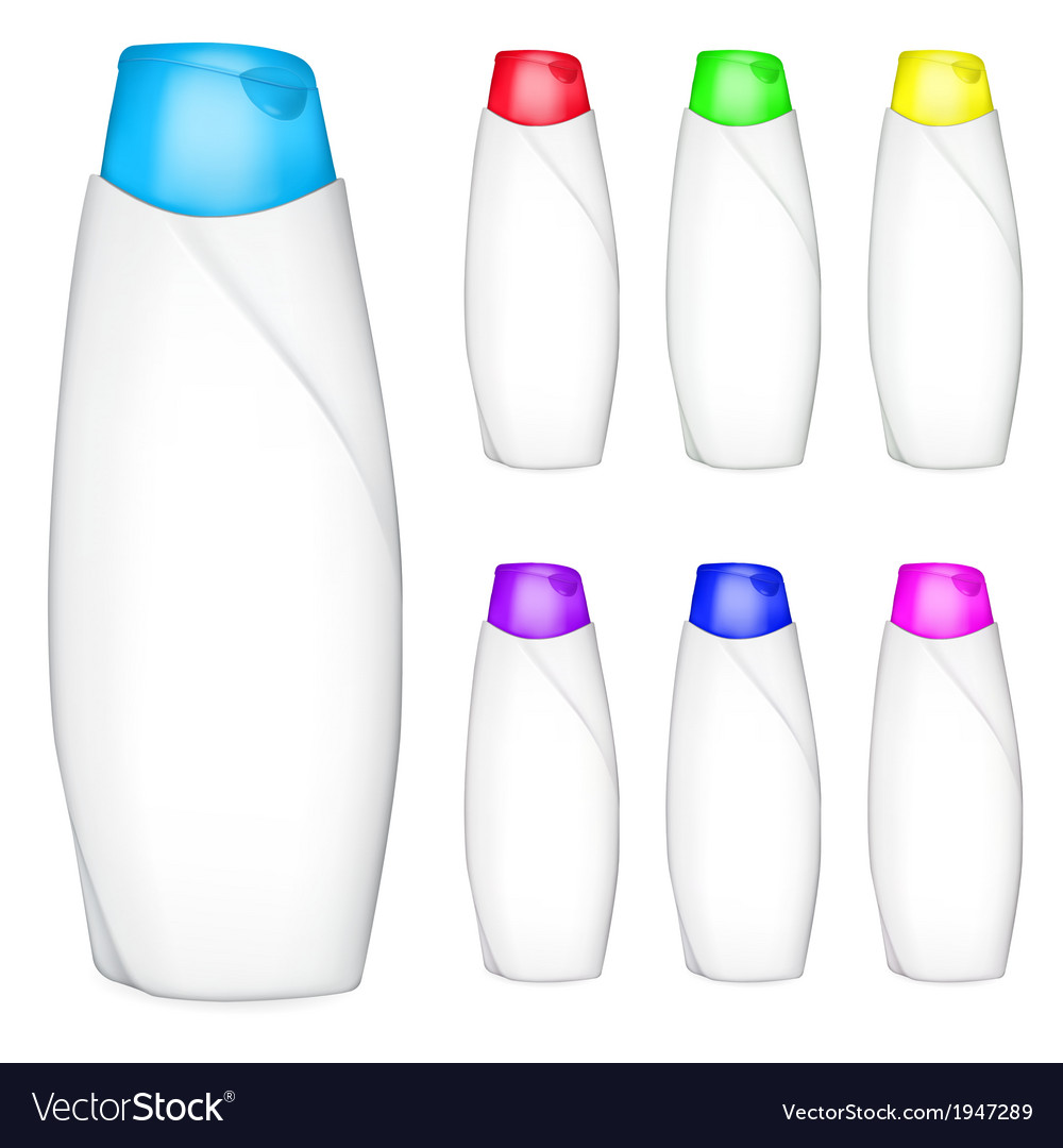 Set of shampoo bottles vector | Price: 1 Credit (USD $1)