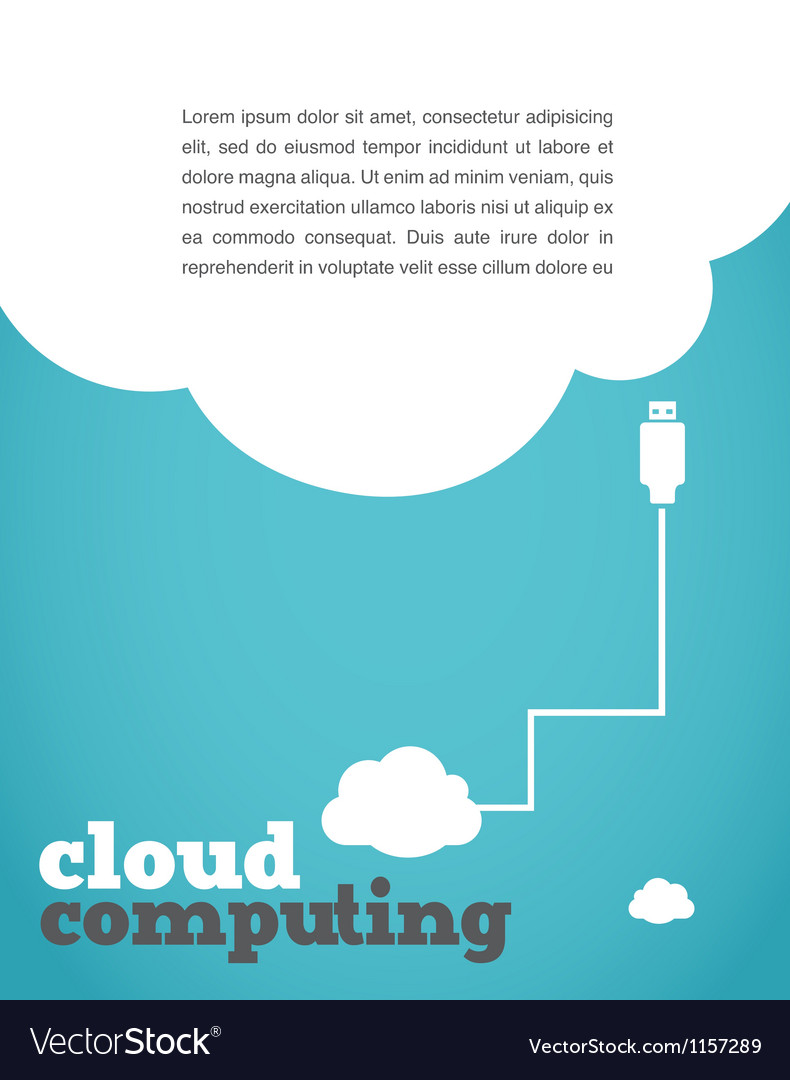 Vintage style cloud computing poster vector | Price: 1 Credit (USD $1)