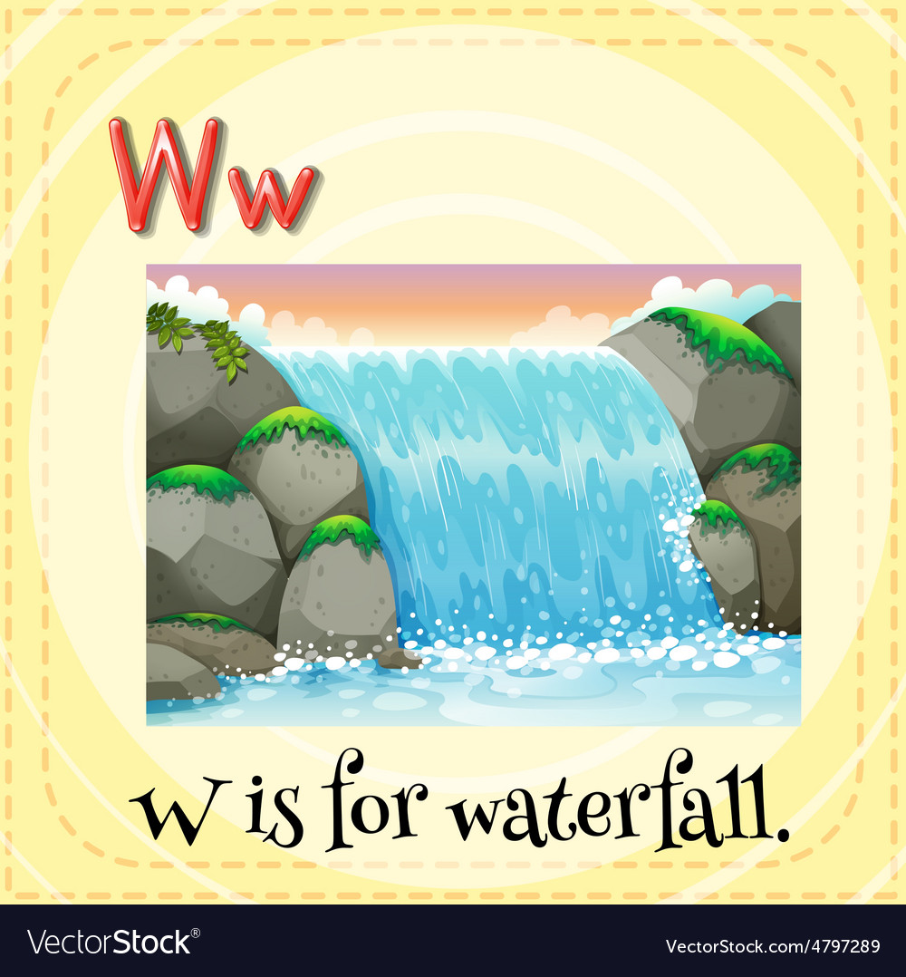 Waterfall vector | Price: 1 Credit (USD $1)
