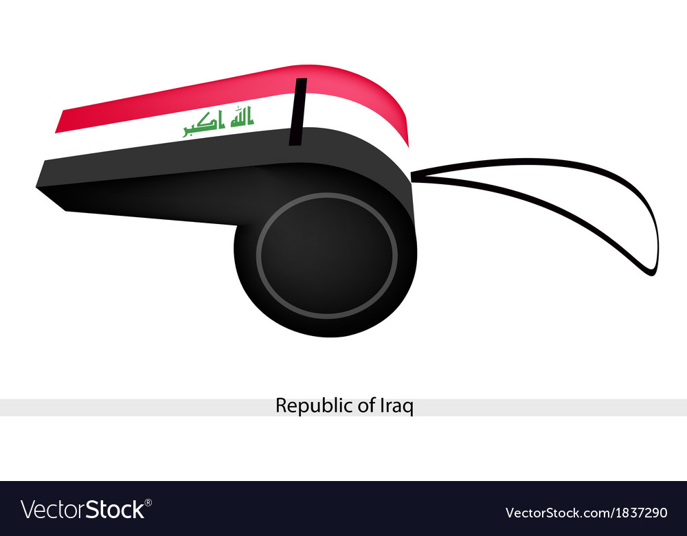 A whistle of the republic of iraq vector | Price: 1 Credit (USD $1)