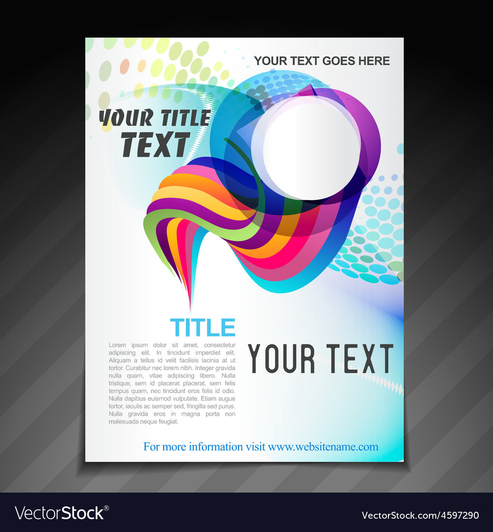 Advertise brochure design vector | Price: 1 Credit (USD $1)
