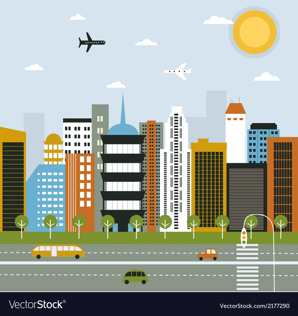 Big city life vector | Price: 1 Credit (USD $1)