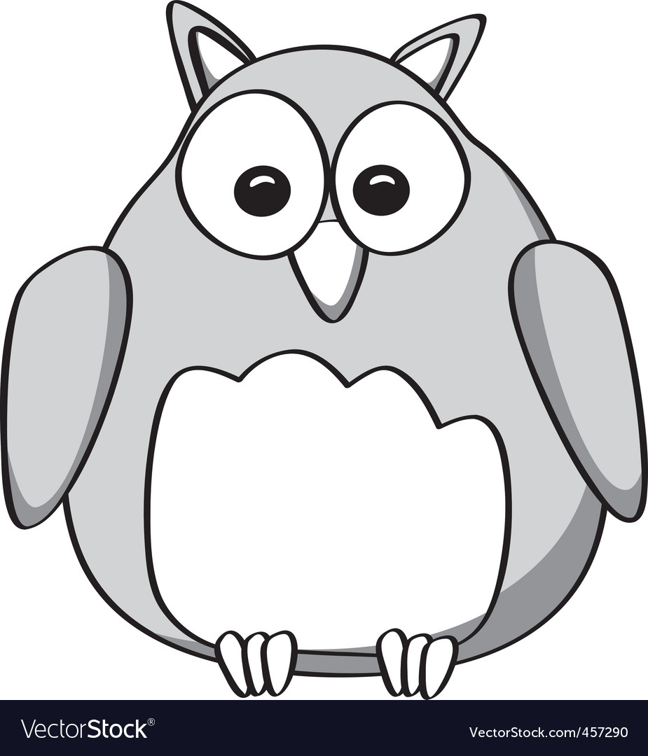 Cartoon owl vector | Price: 1 Credit (USD $1)