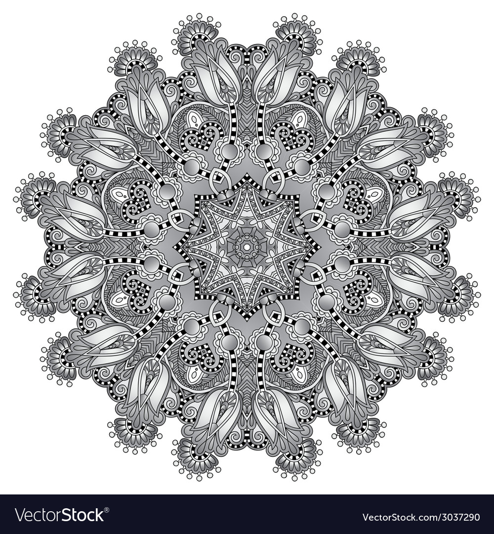 Grey circular decorative geometric pattern for vector | Price: 1 Credit (USD $1)