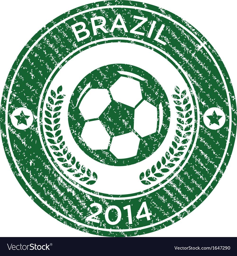 Grunge soccer brazil emblem vector | Price: 1 Credit (USD $1)