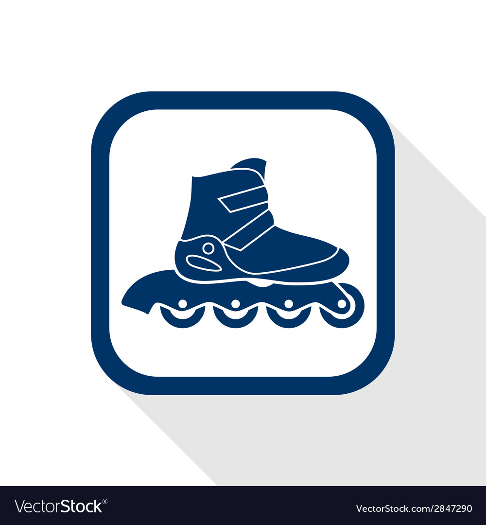 Inline roller flat icon vector | Price: 1 Credit (USD $1)
