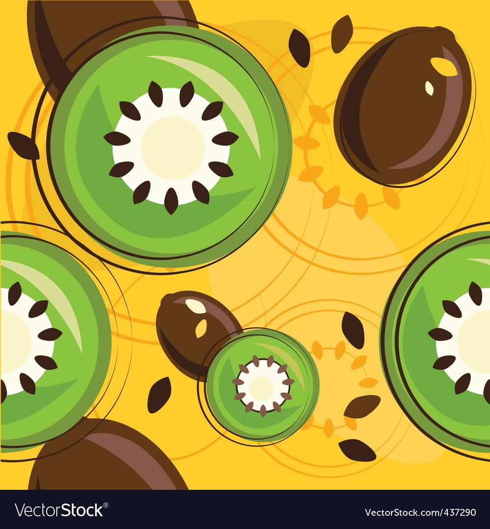 Kiwi background vector | Price: 1 Credit (USD $1)