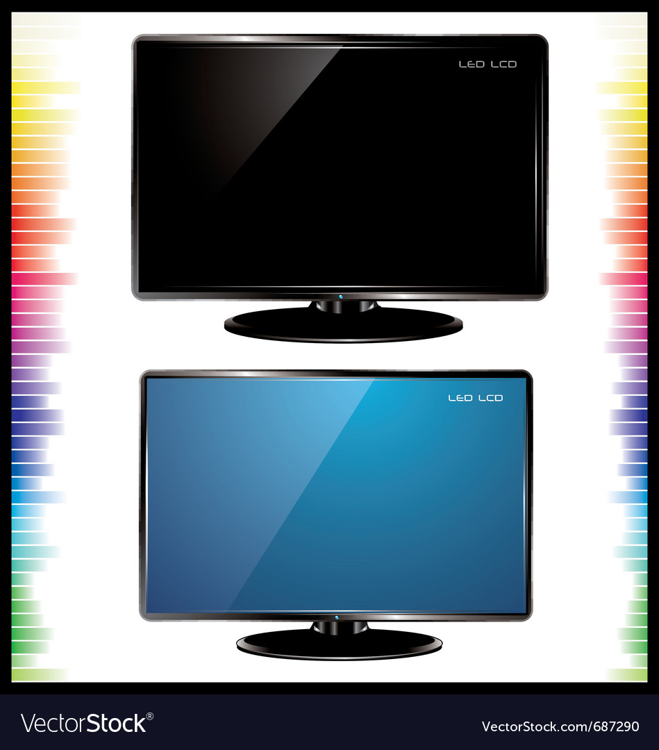 Lcd tv realistic vector | Price: 1 Credit (USD $1)
