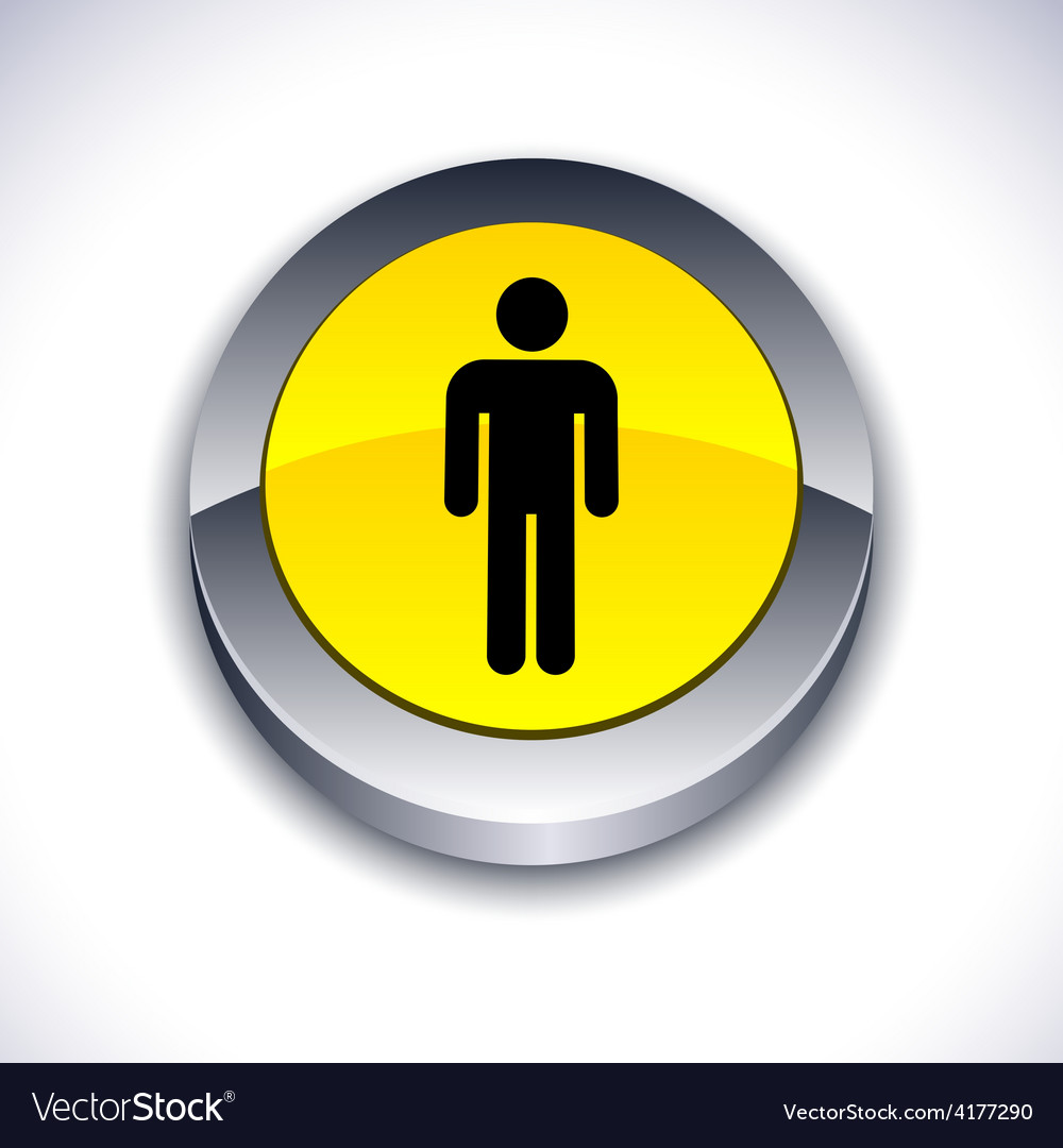 Male 3d button vector | Price: 1 Credit (USD $1)