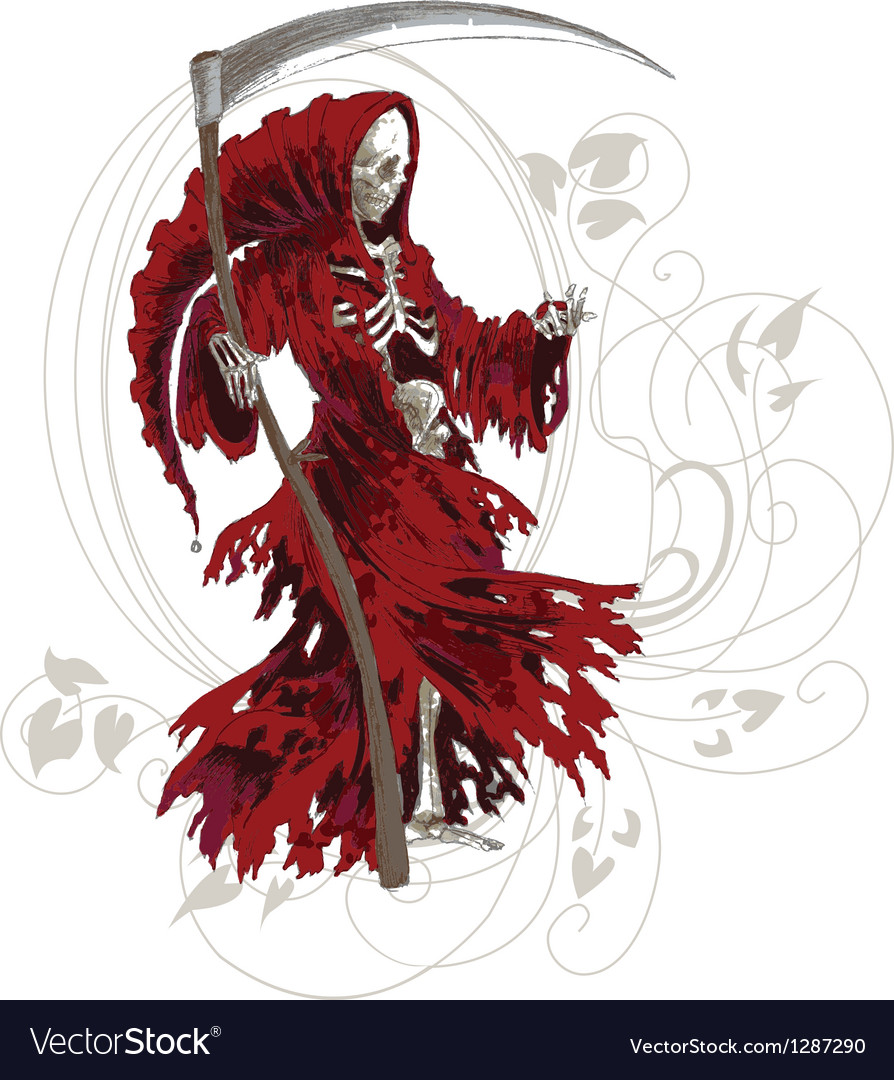 Red death art nouveau vector | Price: 1 Credit (USD $1)