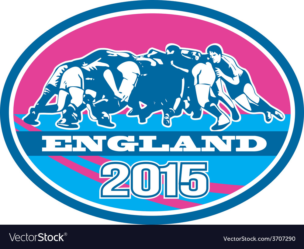 Rugby scrum england 2015 oval vector | Price: 1 Credit (USD $1)