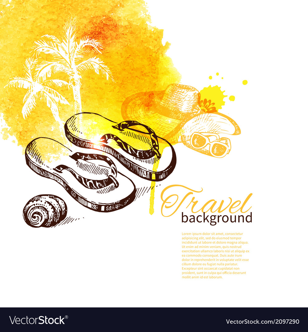 Travel and holiday background vector | Price: 1 Credit (USD $1)