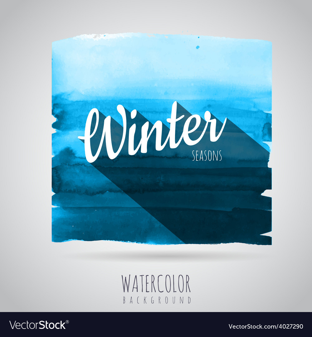 Watercolor abstract background seasons winter vector | Price: 1 Credit (USD $1)