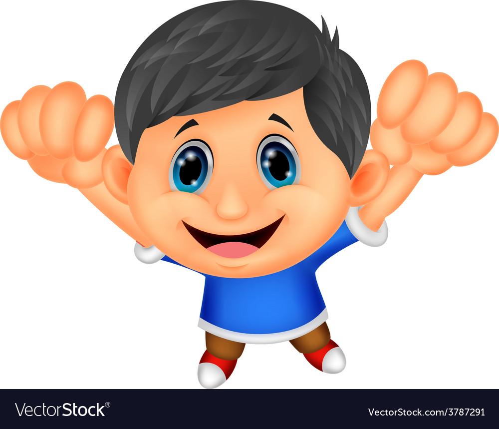 Boy cartoon posing vector | Price: 1 Credit (USD $1)