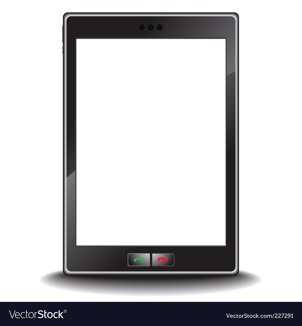 Cell phone pda vector | Price: 1 Credit (USD $1)