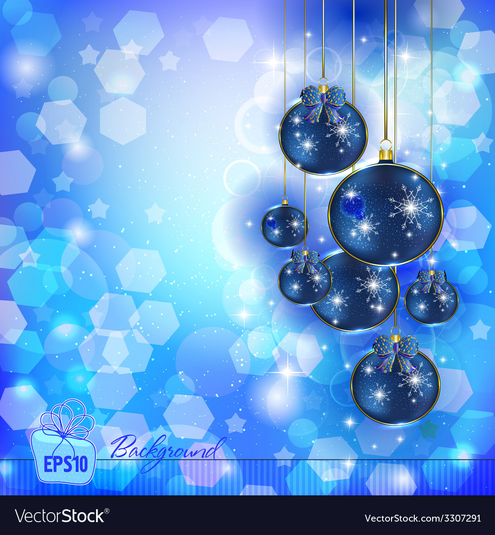 Christmas balls in the glare vector | Price: 1 Credit (USD $1)