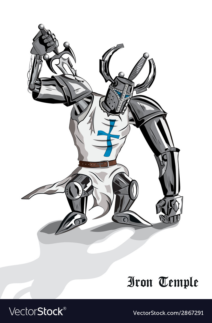 Droid iron temple vector | Price: 3 Credit (USD $3)