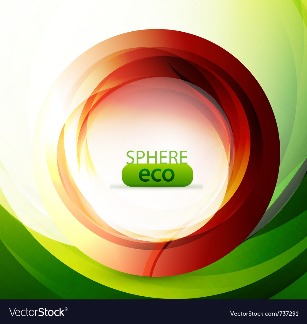 Eco-friendly abstract swirl vector   Price: 1 Credit (USD $1)