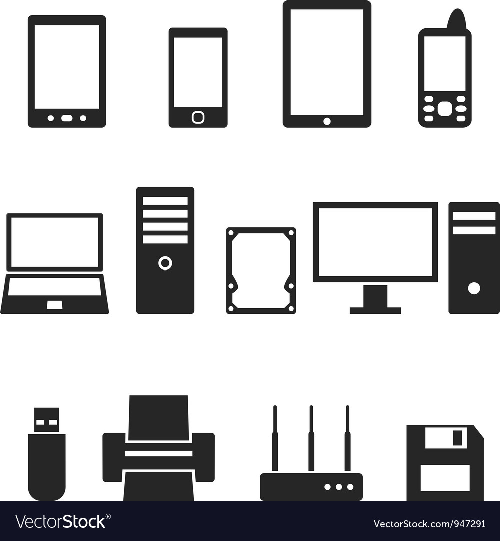 Icons of computer hardware and gadgets in the vector | Price: 1 Credit (USD $1)