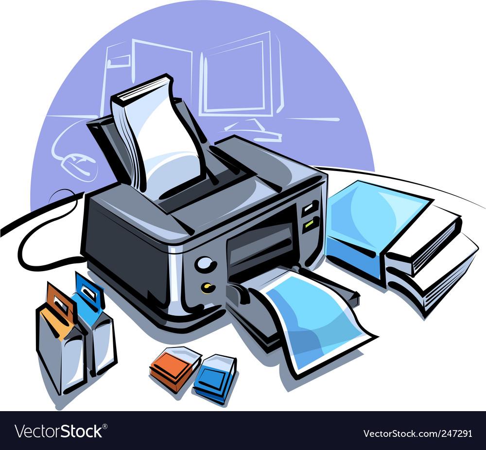Ink jet printer vector | Price: 3 Credit (USD $3)