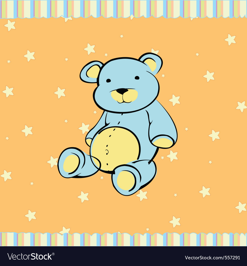 Little teddy bear vector | Price: 1 Credit (USD $1)